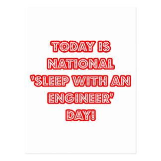 National 'Sleep With an Engineer' Day Postcard