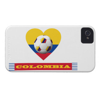 National SOCCER and flag of COLOMBIA 2014 Case-Mate iPhone 4 Cases