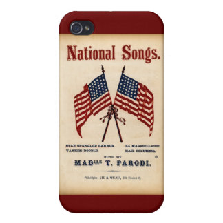 National Songs Vintage Sheet Music iPhone 4 Case