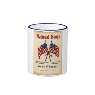 National Songs Vintage Sheet Music Coffee Mug
