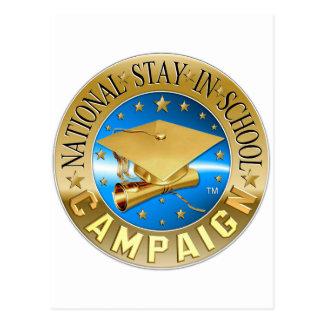 National Stay In School Gear Postcard