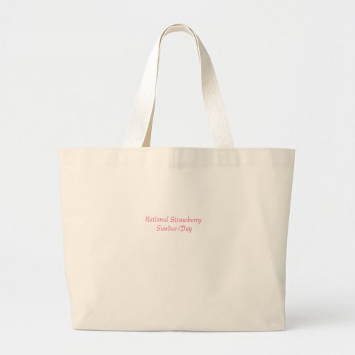 National Strawberry Sundae Day Canvas Bags
