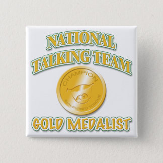 National Talking Team Gold Medalist 15 Cm Square Badge