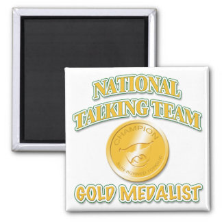 National Talking Team Gold Medalist Magnet