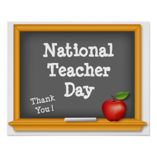 National Teacher Day Poster, Thank You! Poster