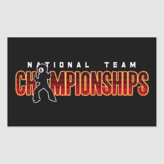 National Team Championships 2 Rectangular Sticker