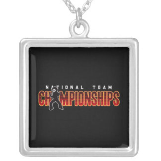 National Team Championships 2 Silver Plated Necklace