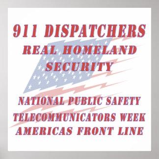 National Telecommunicators Week Americas Front Lin Poster