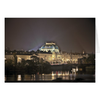 National Theater Prague Night Card