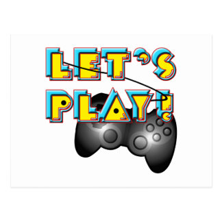 National Video Games Day - Let's Play! Postcard