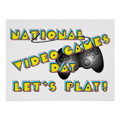 National Video Games Day Print