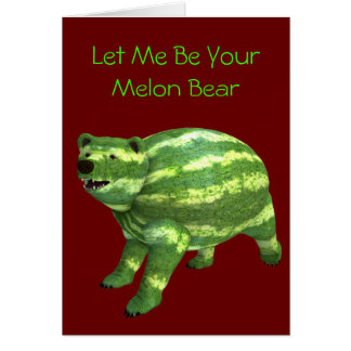 National Watermelon Day Bear Card