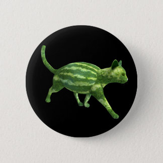 National Watermelon Day Cat 6 Cm Round Badge