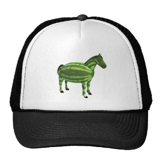 National Watermelon Day Horse Trucker Hats