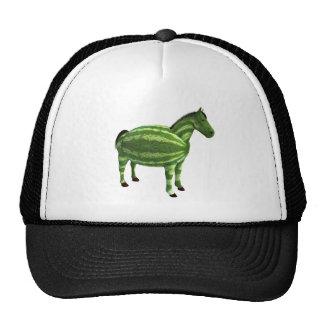 National Watermelon Day Horse Trucker Hats