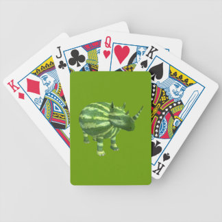 National Watermelon Day Rhinoceros Bicycle Playing Cards