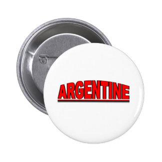 "Nationalities - ""Argentine"" 6 Cm Round Badge"