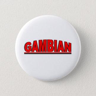"""Nationalities - """"Gambian"""" 6 Cm Round Badge"""