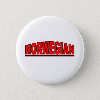 """Nationalities - """"Norwegian"""" 6 Cm Round Badge"""