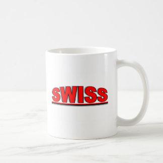 """Nationalities - """"Swiss"""" Basic White Mug"""
