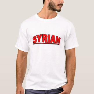 "Nationalities - ""Syrian T-Shirt"