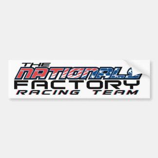 nationals factory bumper sticker