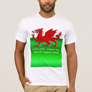 Nations Rugby Winners Commemorative Welsh Flag T-Shirt