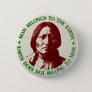native 6 cm round badge
