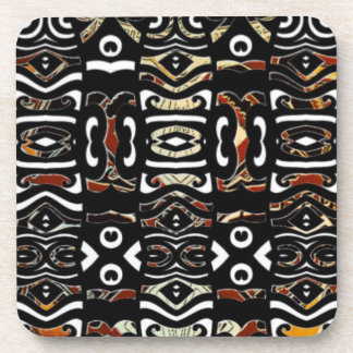 Native abstract tribal coaster set 6