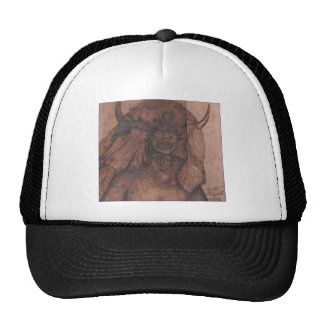NATIVE AMER WB.PNG Native american wood burning Trucker Hat