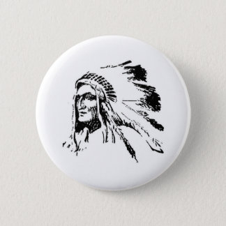 Native American 6 Cm Round Badge
