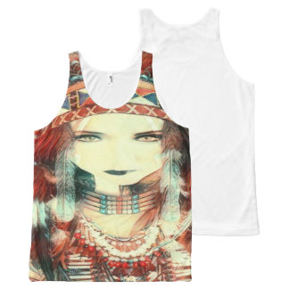 native american All-Over print tank top