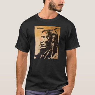 "Native American ancestor tee shirt ""Remember""."