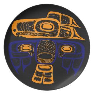 Native American Art: Tlingit thunderbird Dinner Plates