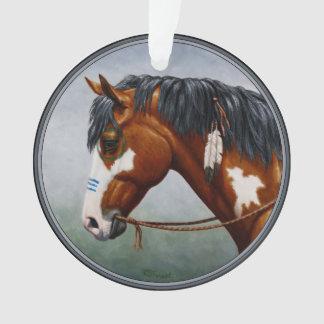 Native American Bay Pinto War Horse