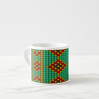 Native American Bead Pattern Espresso Cup