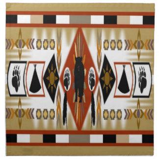 Native American Bear Clan Napkins