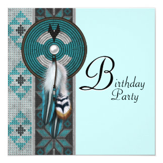 Native American Birthday Party Card