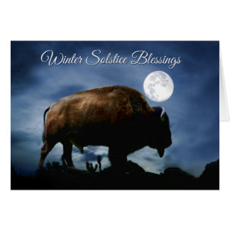 Native American Bison Winter Solstice Card