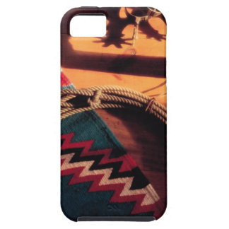 Native American blanket , lasso , and spurs iPhone 5 Covers