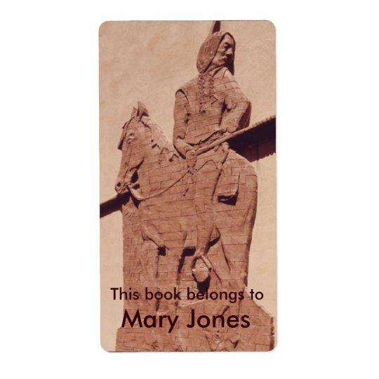 Native American Bookplate Shipping Label
