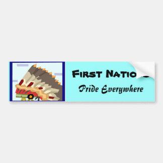Native American bumper sickers-first nations Bumper Sticker