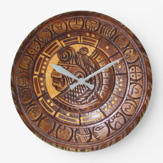 Native American Calendar Large Clock