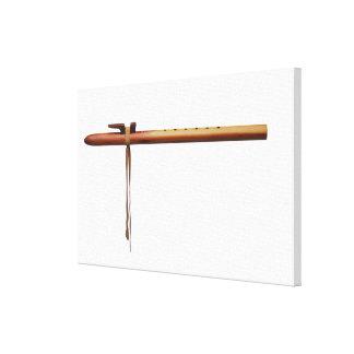 Native American Cedar Flute Stretched Canvas Prints