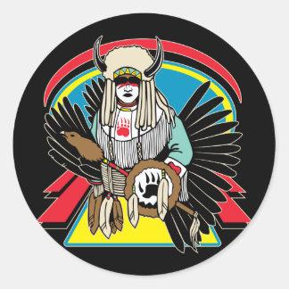 Native American Ceremony Round Sticker