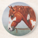 Native American Chestnut Pinto Horse Drink Coaster