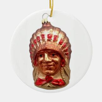 Native American Chief Christmas Ornament