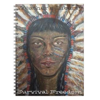 Native American Chief & Motto Note Book