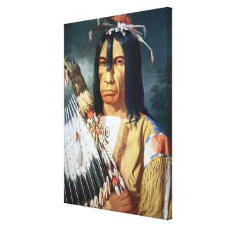 Native American Chief of the Cree people of Canada Canvas Print