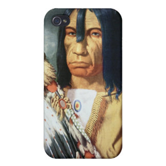 Native American Chief of the Cree people of Canada Covers For iPhone 4